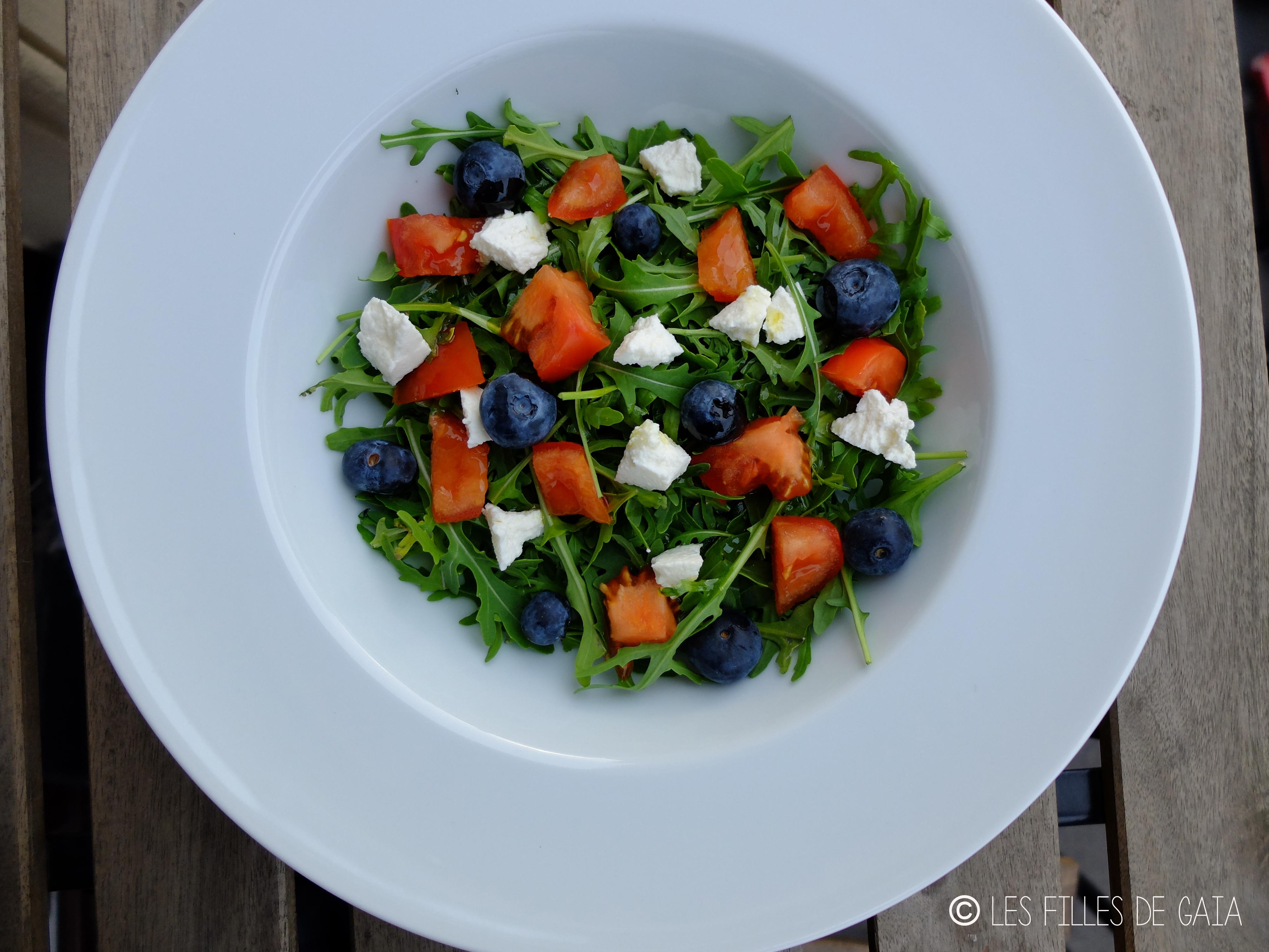 Recette originale de l t la salade tomate feta myrtilles - Salade originale ete ...